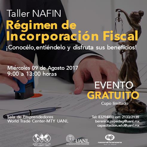 TALLER NAFIN: REGIMEN DE INCORPORACIÓN FISCAL