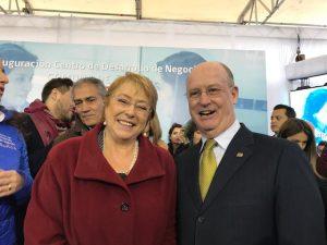 Con S.E. Presidenta Michelle Bachelet