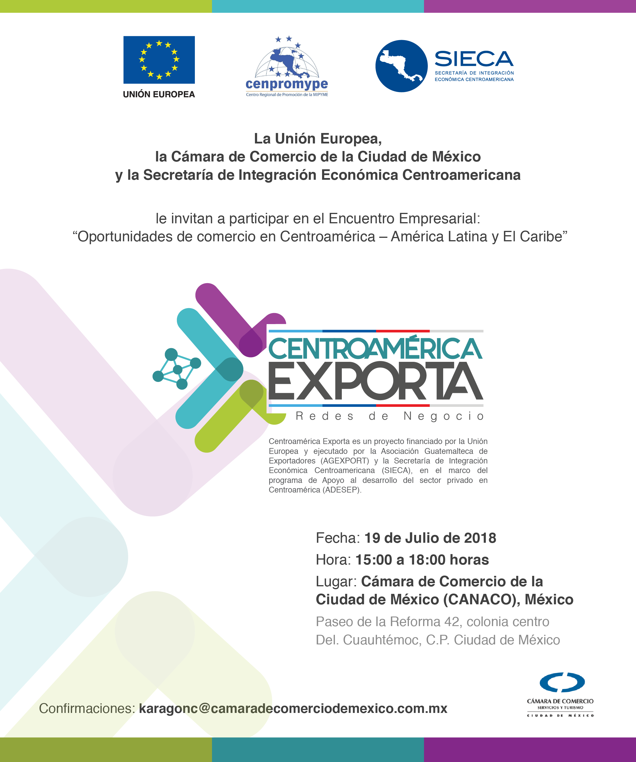 """Encuentro Empresarial """"Oportunidades de negocios en Centroamérica-América y El Caribe"""""""