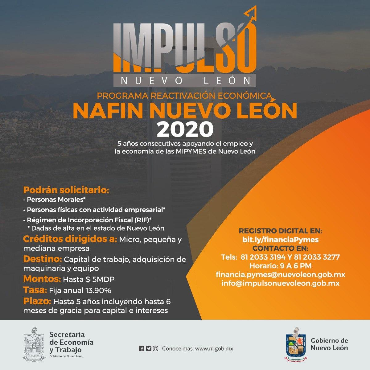 PyMES en esta contingencia, ponemos a tu disposición nuestro programa Impulso Nuevo León