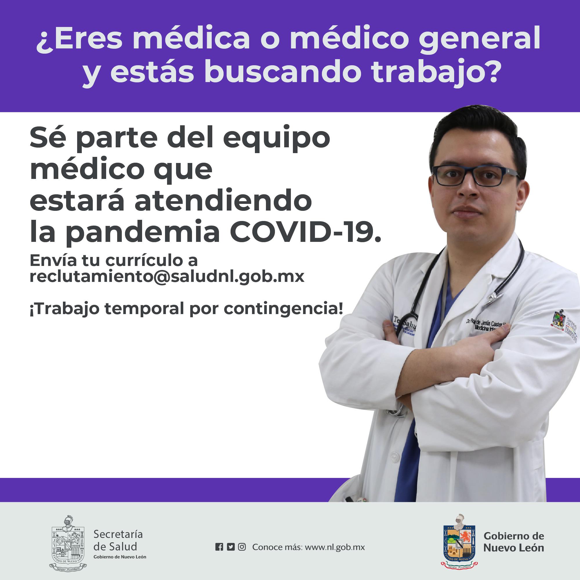 Buscas trabajo -Médico general