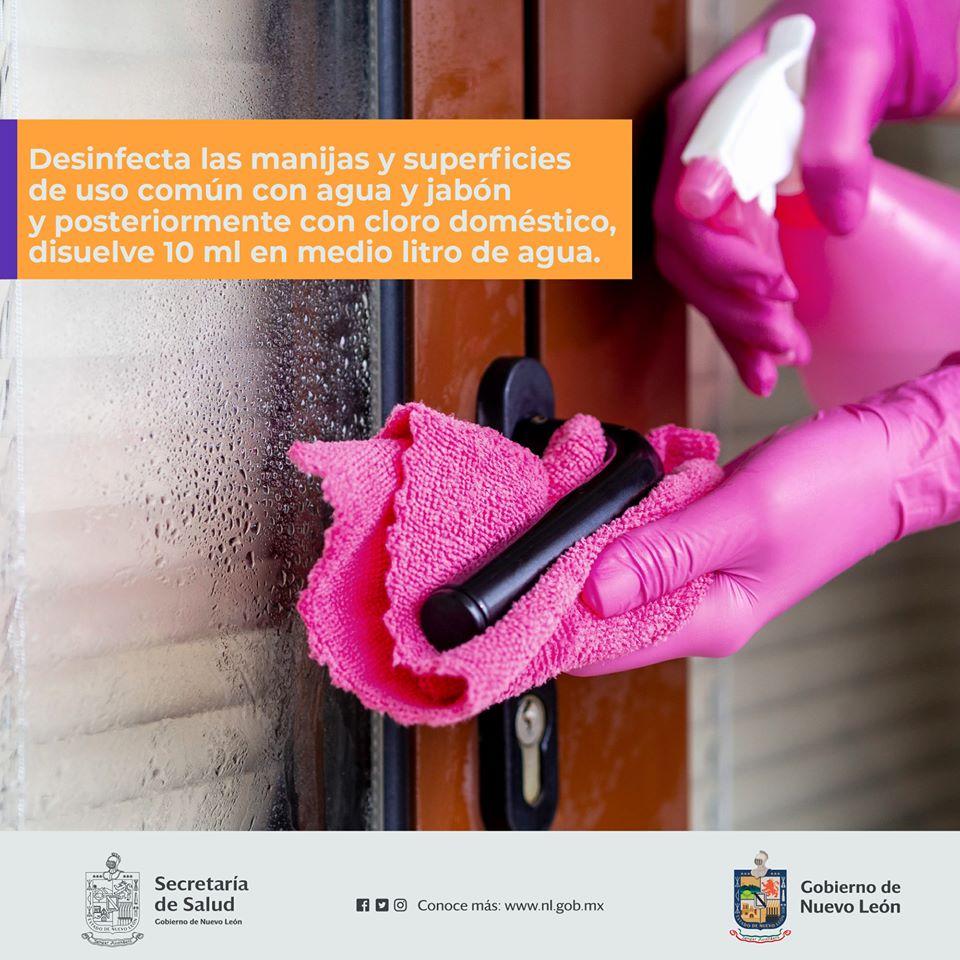 Prevención Desinfecta las manijas y superficies