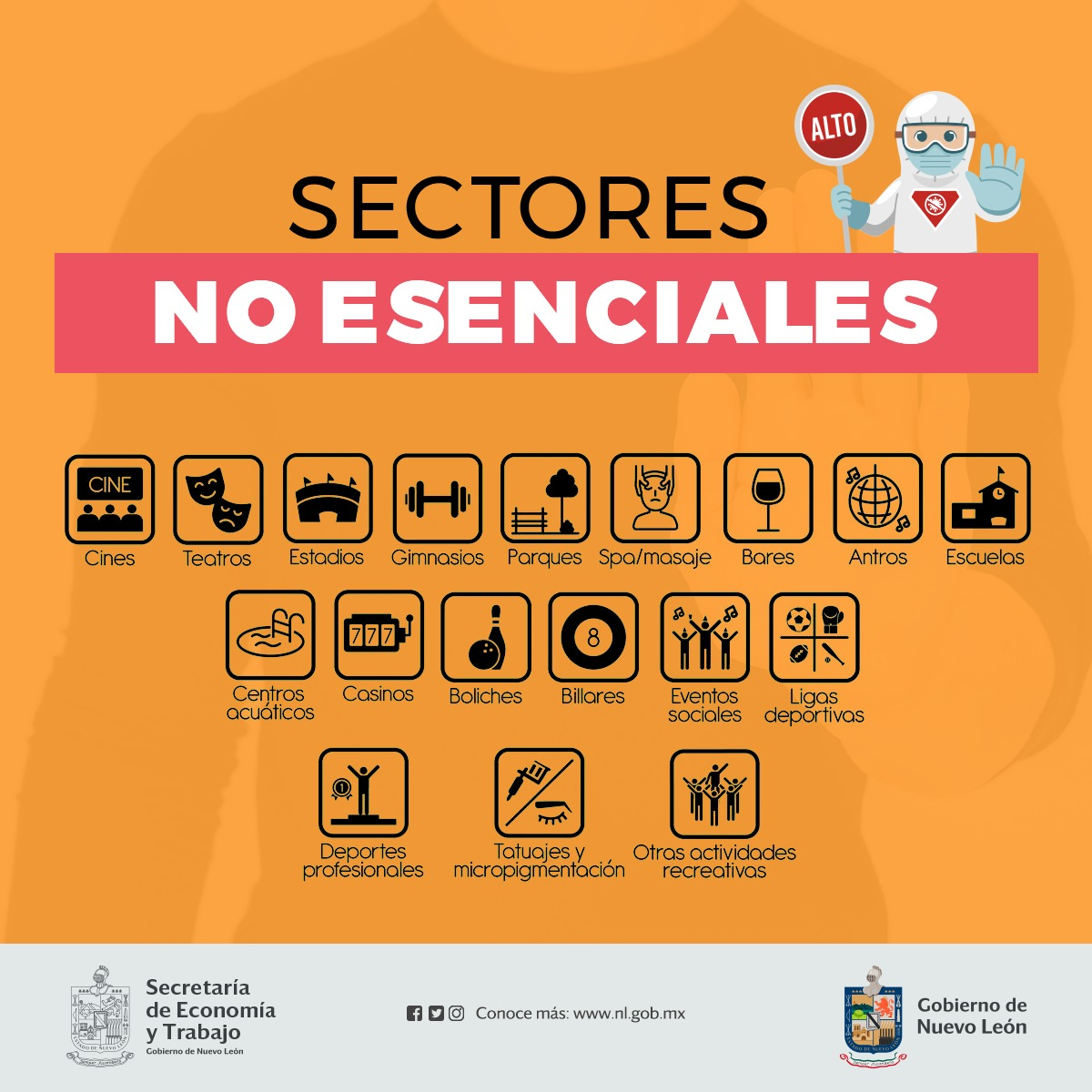Sectores no esenciales