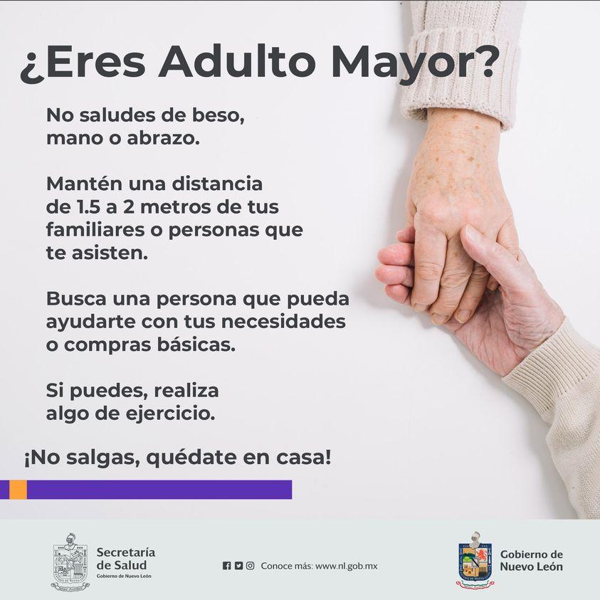 Adulto mayor no salgas