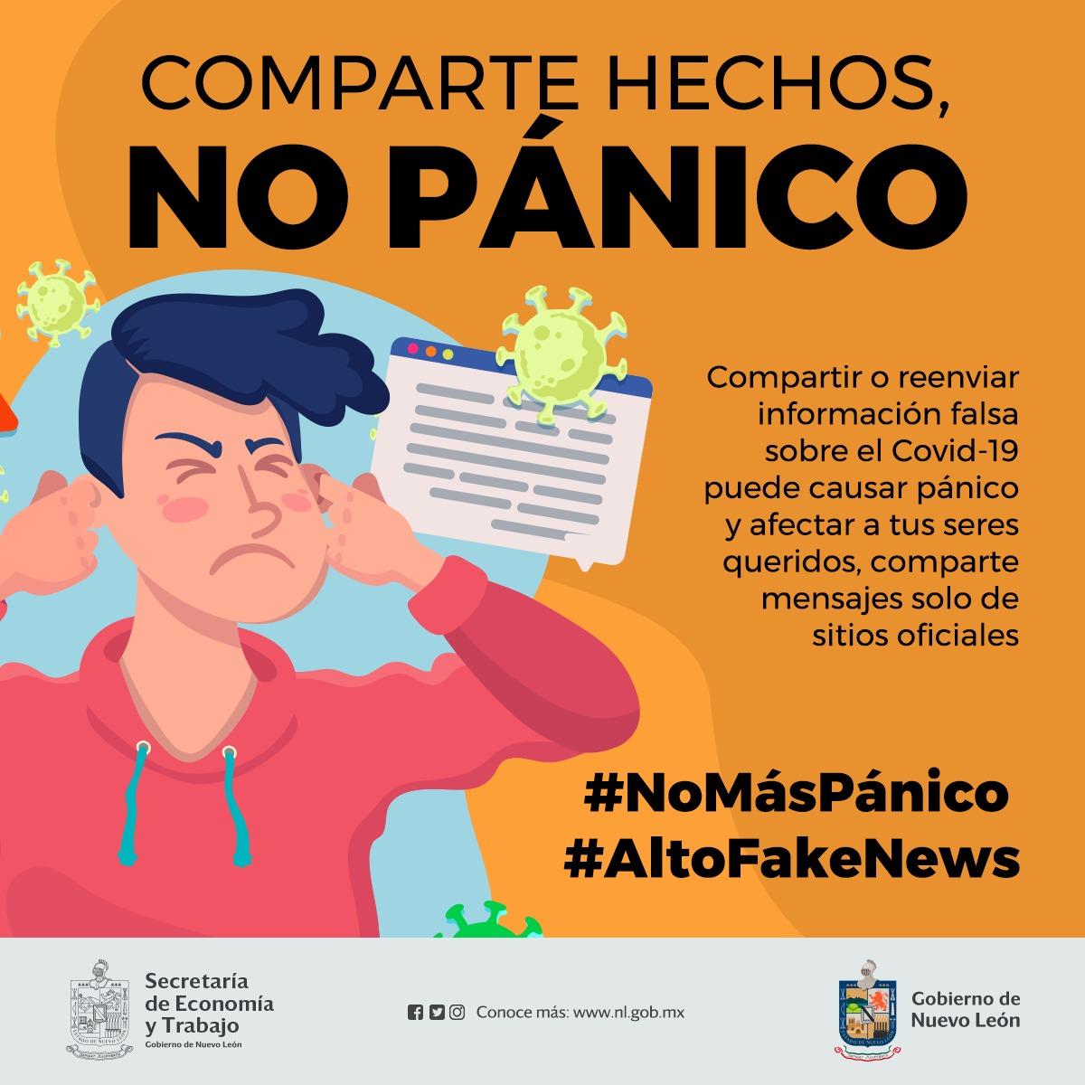 Comparte hechos, no pánico