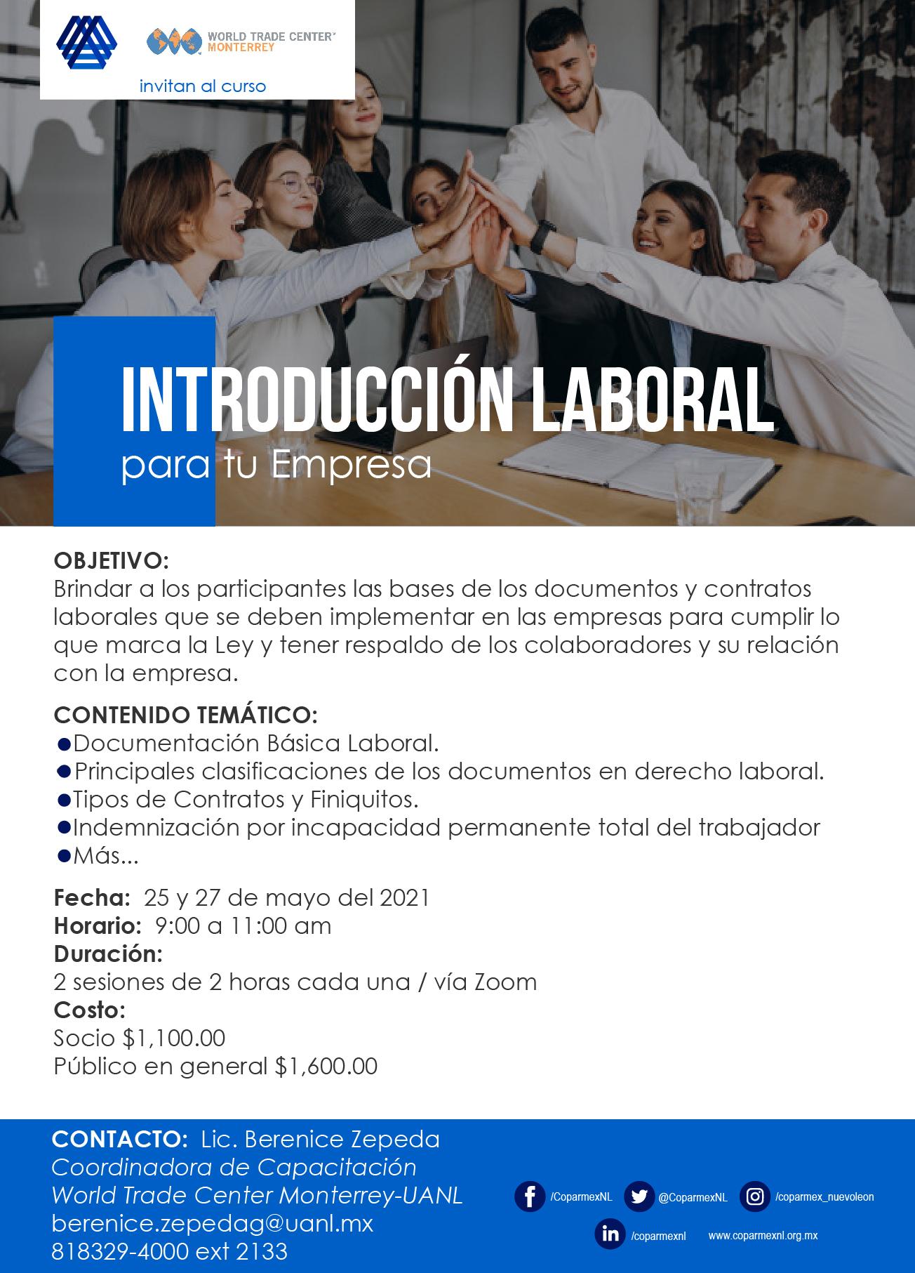 Taller Introducción Laboral para tu empresa